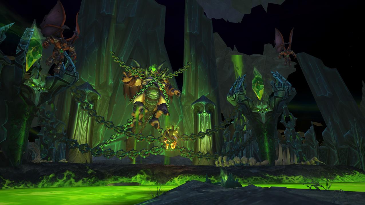 Dreadscar Rift Warlock Class Hall in World of Warcraft Legion