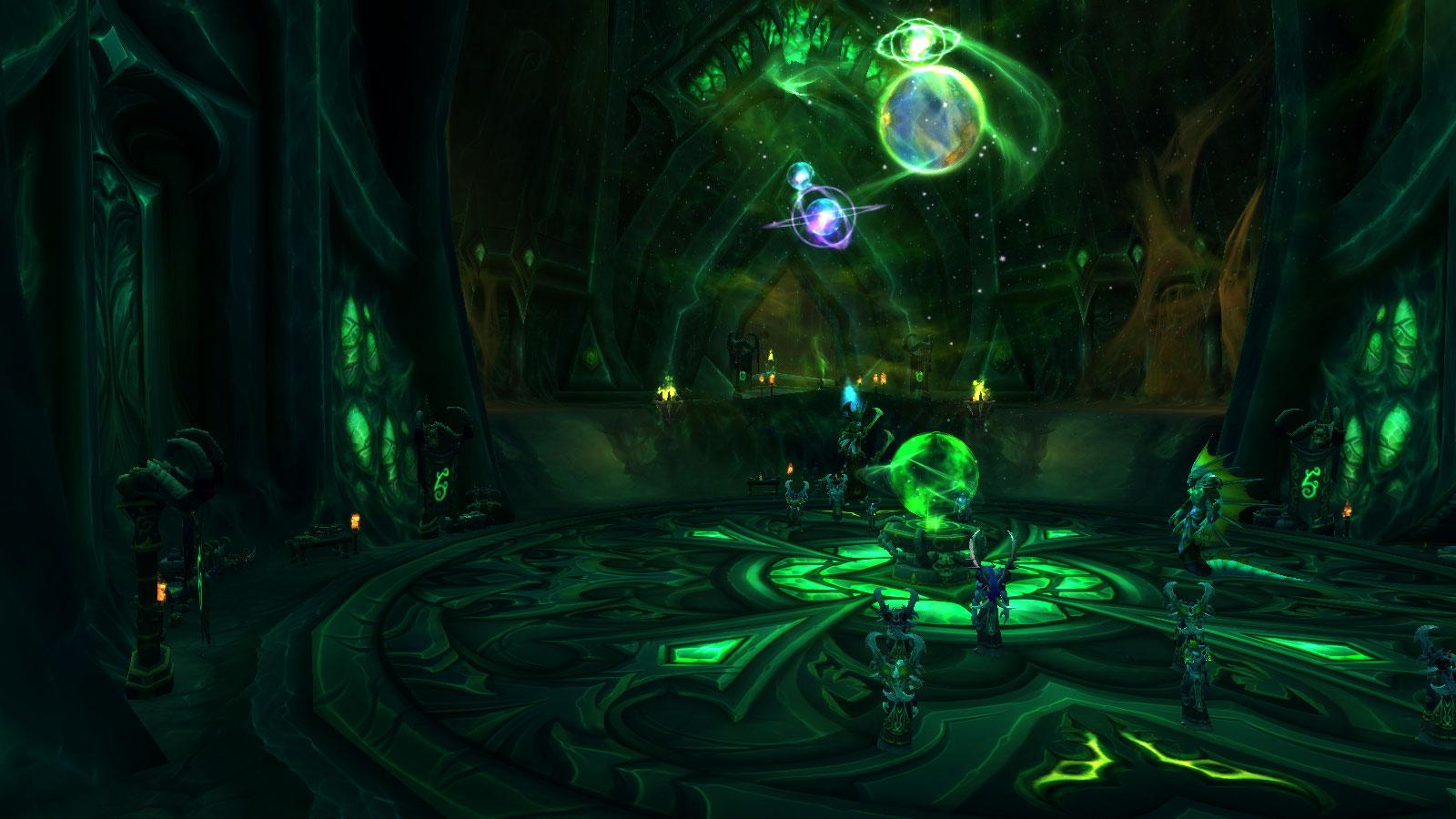 Fel Hammer Demon Hunter Class Hall in World of Warcraft Legion