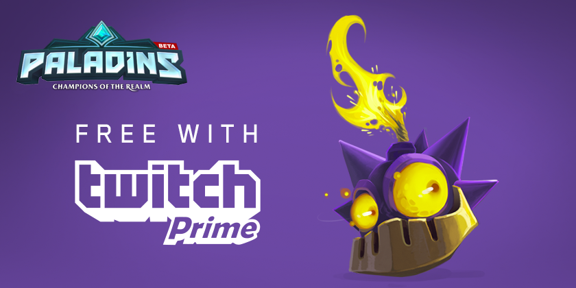 Get a Weapon Skin for Bomb King in Paladins for free with Twitch Prime