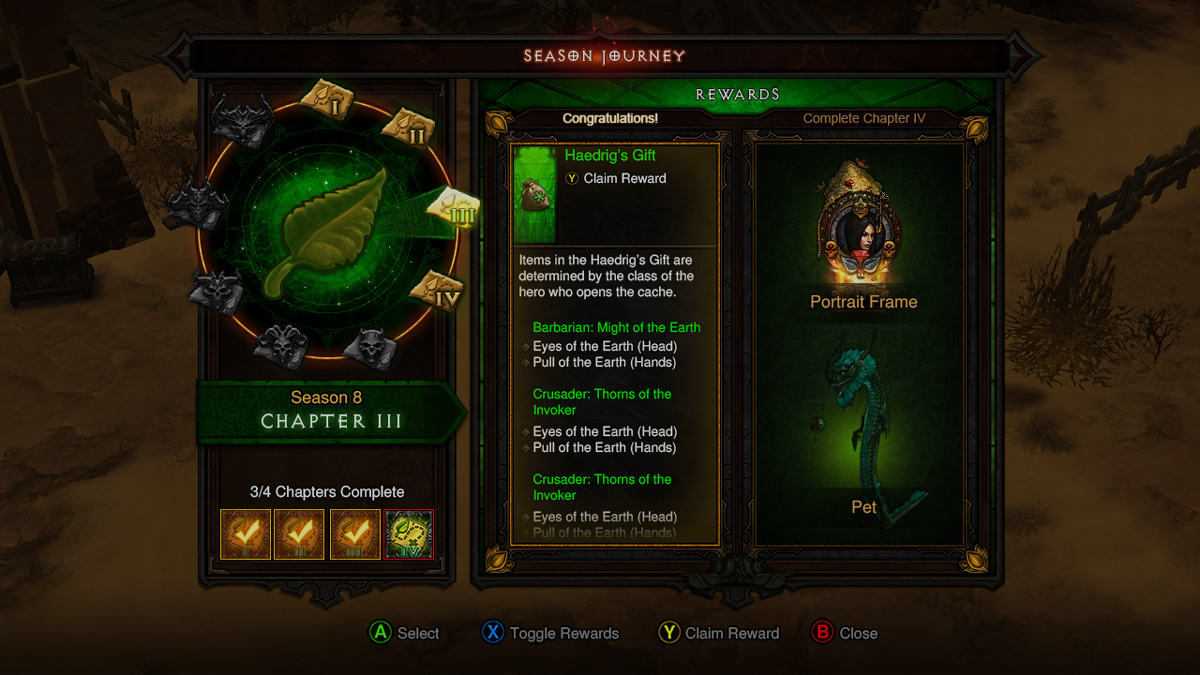 Diablo 3 Season Now Available for Console Gamers
