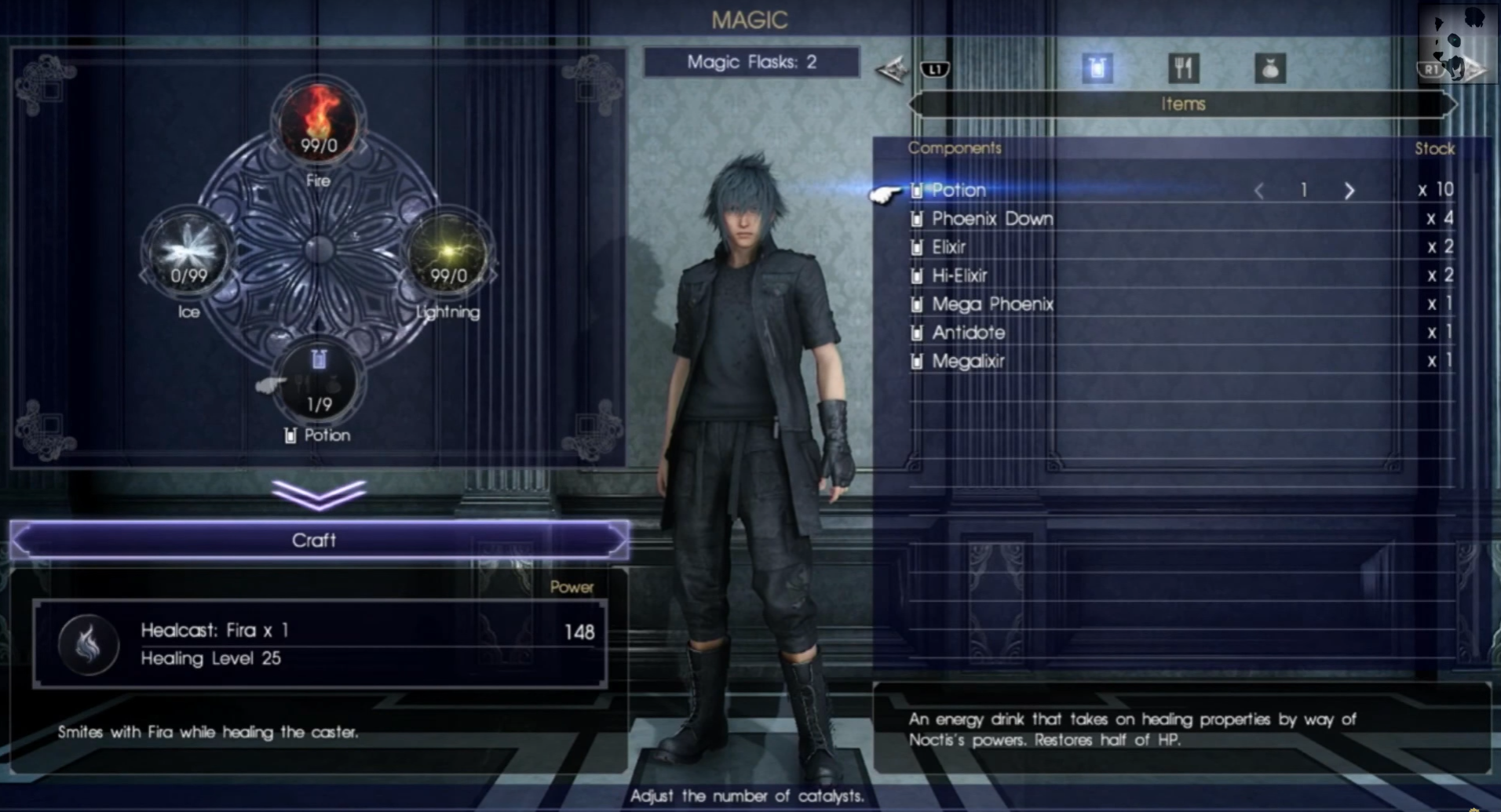 FFXV Magic System Adds Crafting