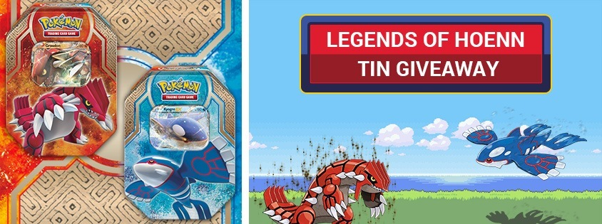 Legends of Hoenn Tin Giveaway