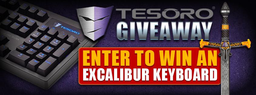 Tesoro Excalibur Specturm RGB  Keyboard Giveaway!