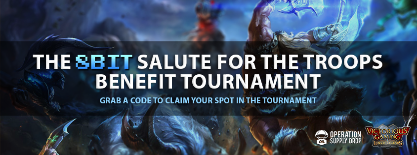The 8-Bit Salute for the Troops Benefit Tournament Entrance Code Giveaway