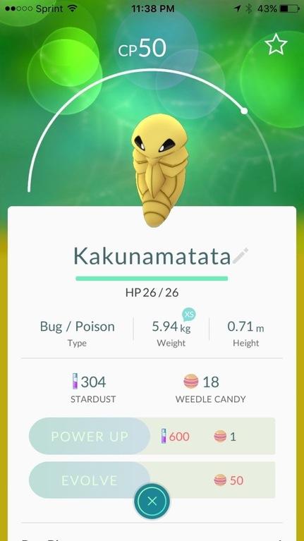 Pokemon Go Funny Nickname