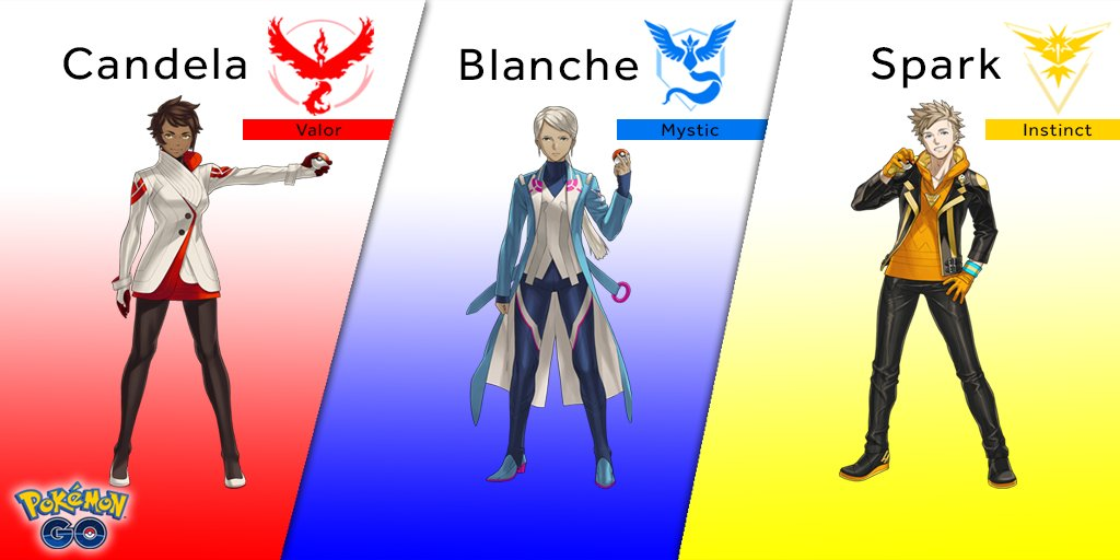 Pokemon Go Team Leaders from Comic-Con