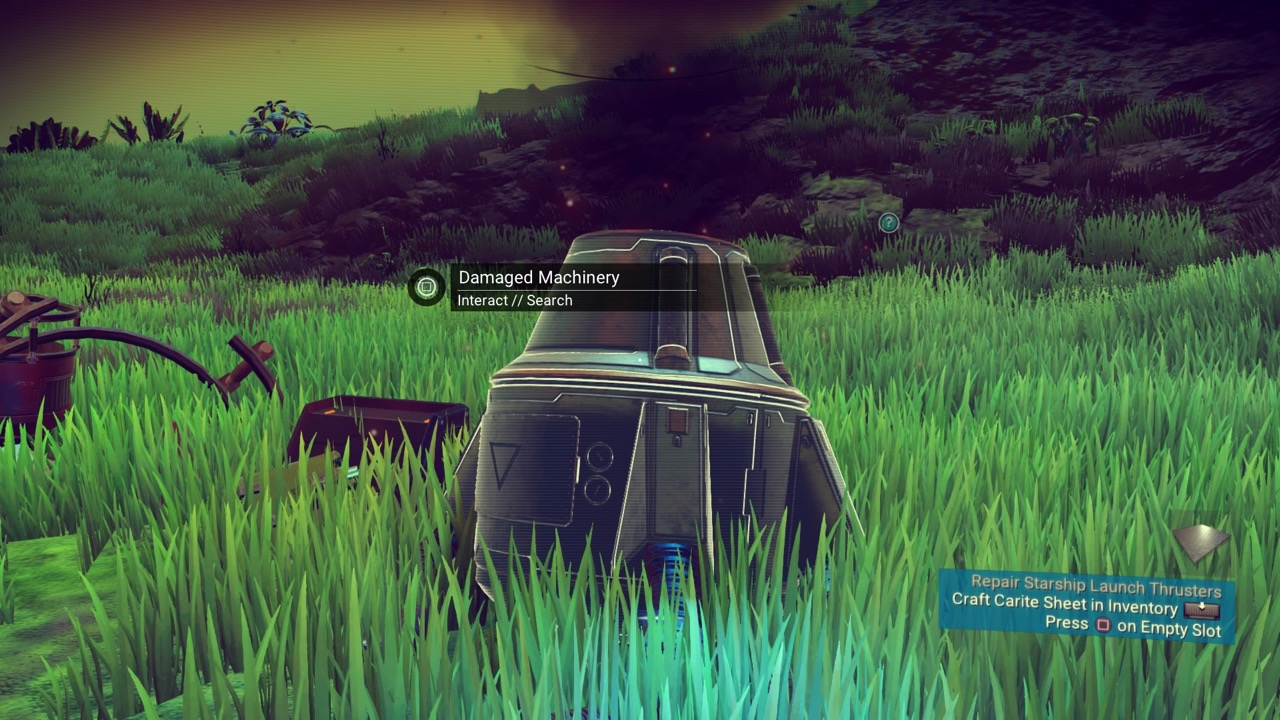 Check your crash site in No Man's Sky