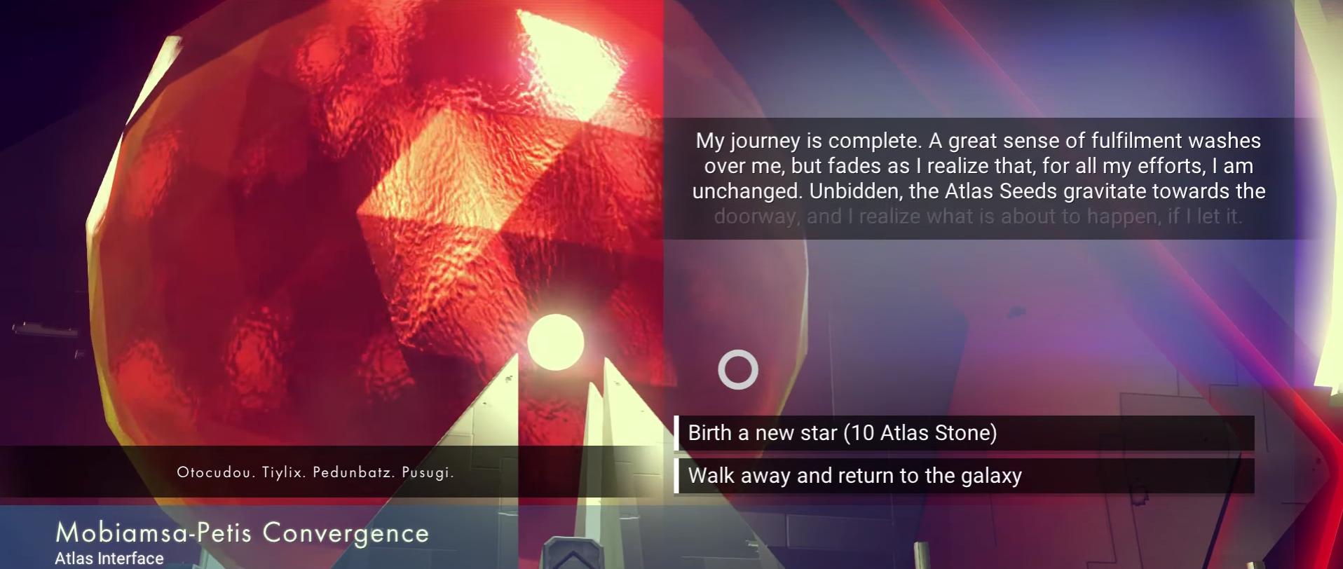 No Man's Sky Birth New Star with Atlas Stones
