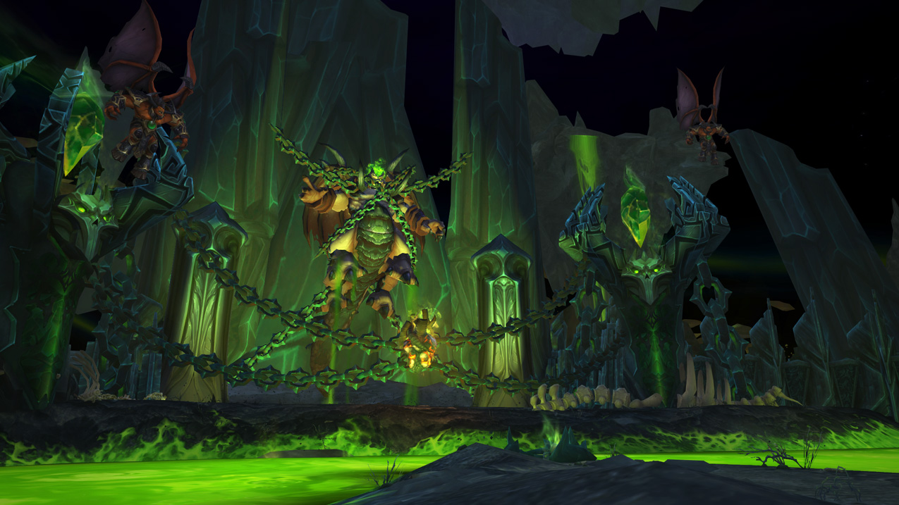 Dreadscar Rift Warlock Class Hall in World of Warcraft Legion