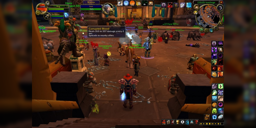 Corrupted Blood Incident in World of Warcraft