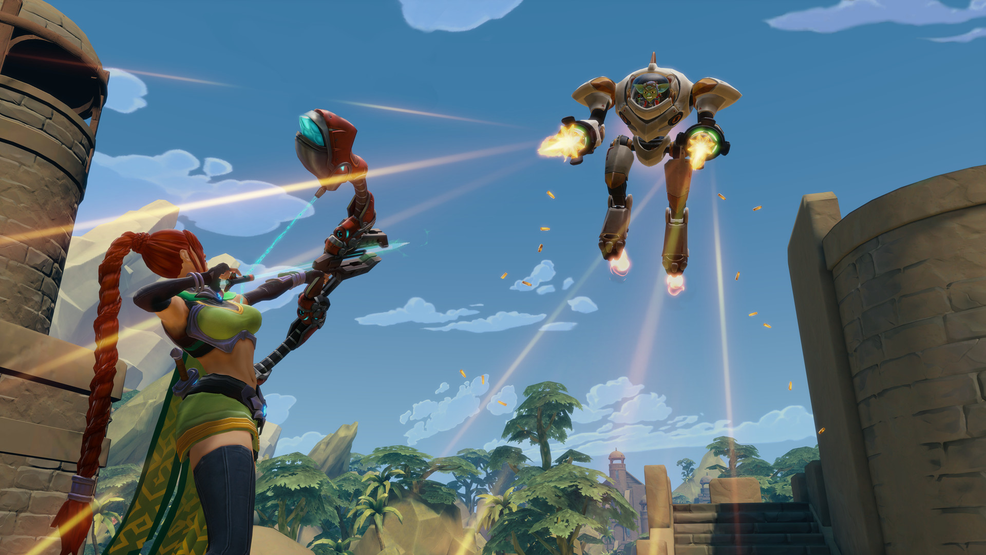 Paladins is a free to play team shooter on Steam