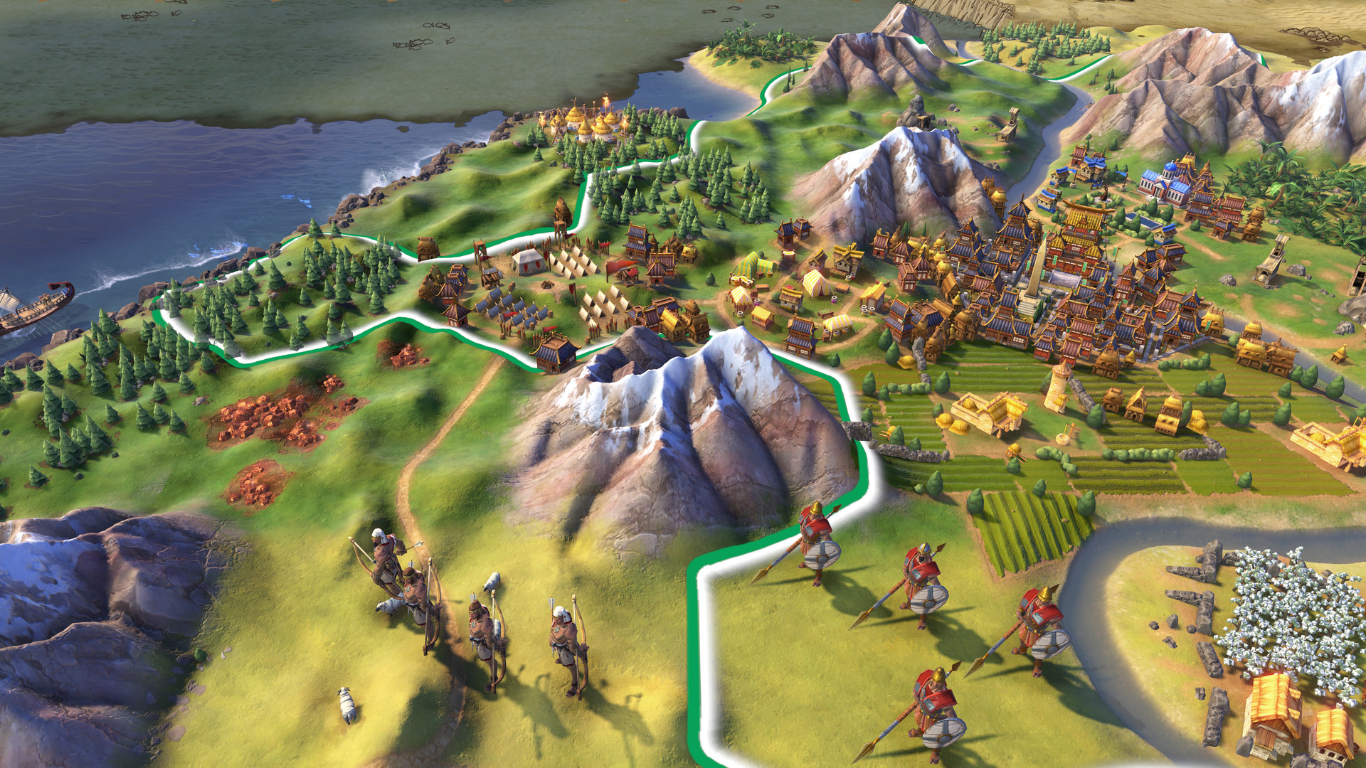 Civ 6 Art Style, Map, and UI Changes