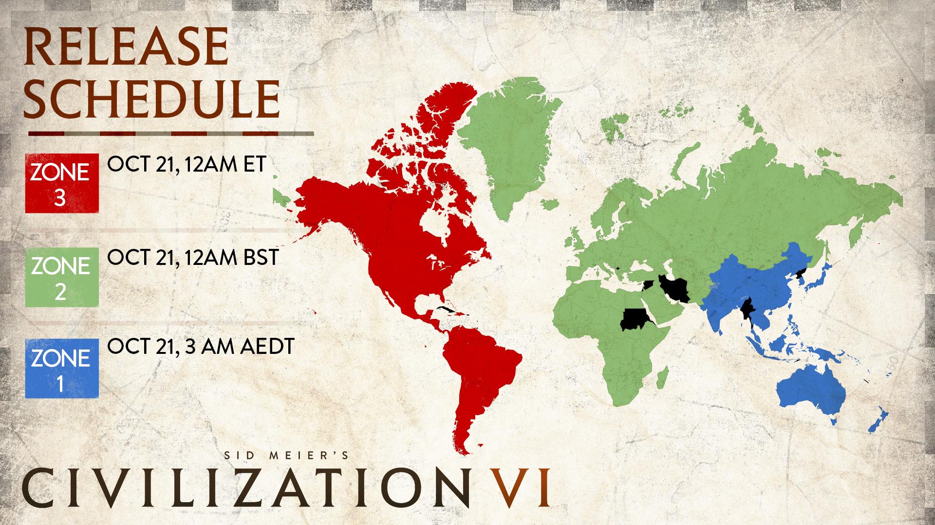 Civ 6 Unlock Times Map
