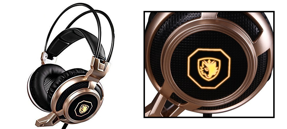 SADES Arcmage Stereo Gaming Headset in Gold