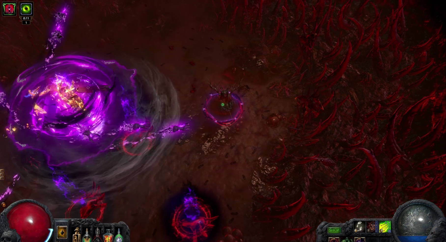 Breachlords boss fight screenshot from Path of Exile