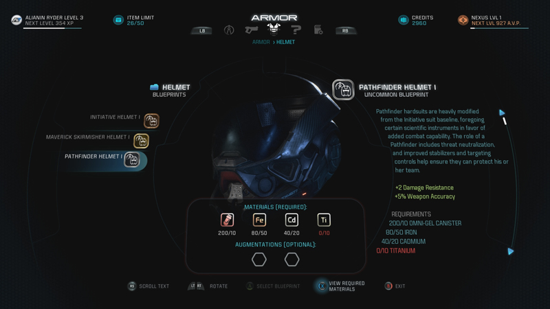 Mass Effect: Andromeda Crafting Guide - Development