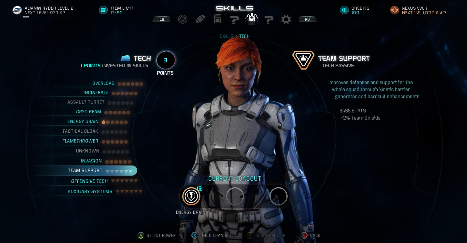 Mass Effect: Andromeda - Tech Skills