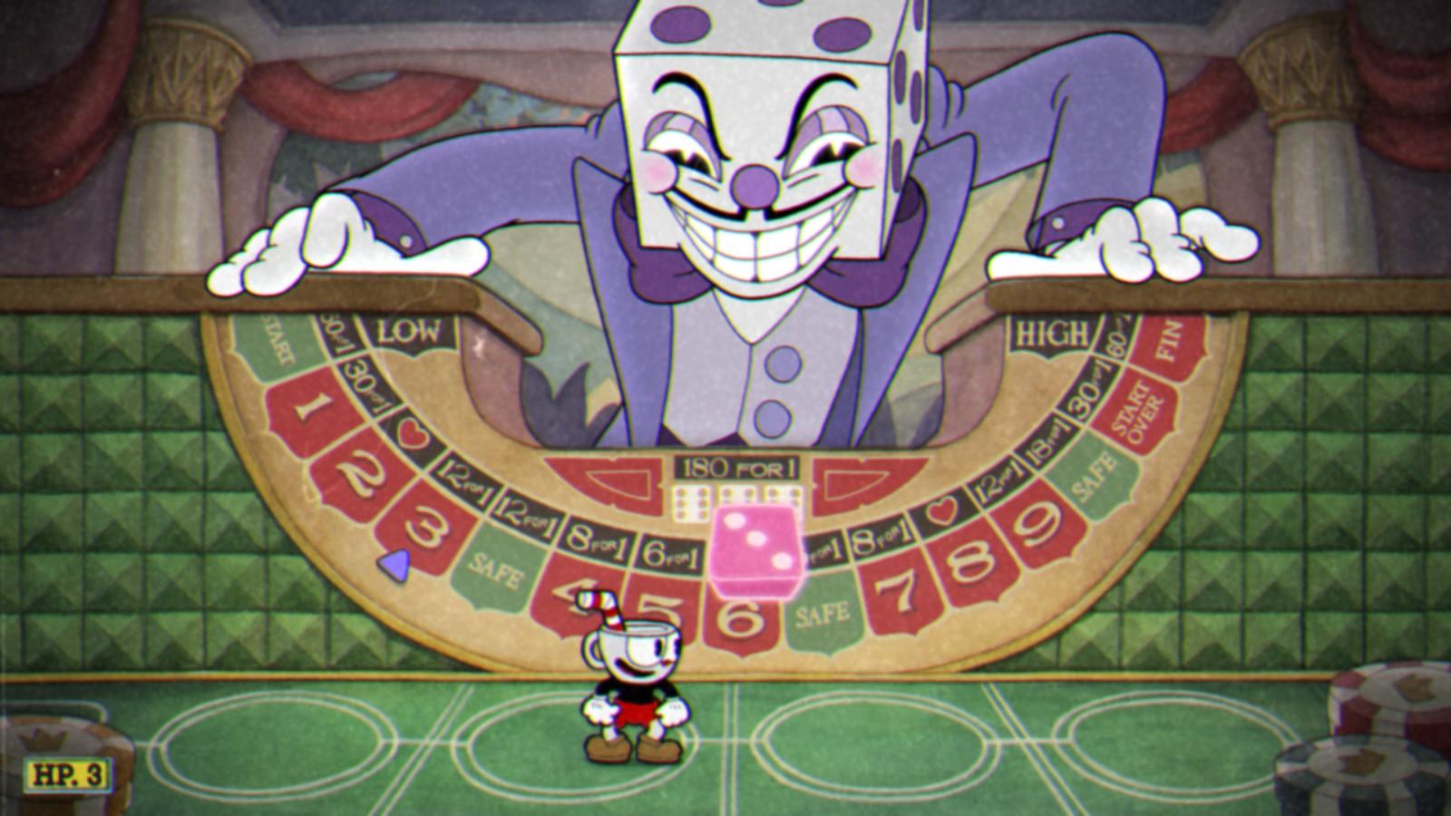 Resultado de imagem para cuphead death screen king dice